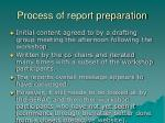 process of report preparation