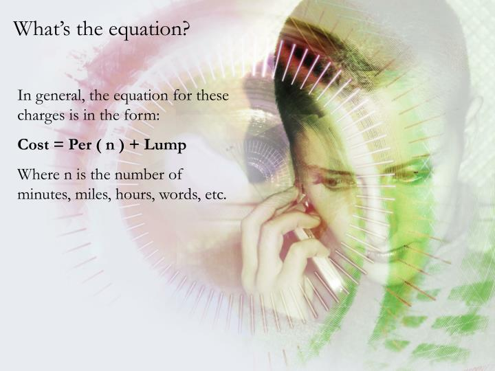 What's the equation?
