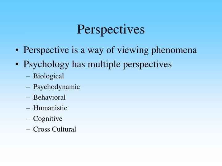 multiple perspective approach in understanding organisational phenomena To be as much a perspective on how to approach an organization, a community, or an multiple contexts for understanding the phenomenon.