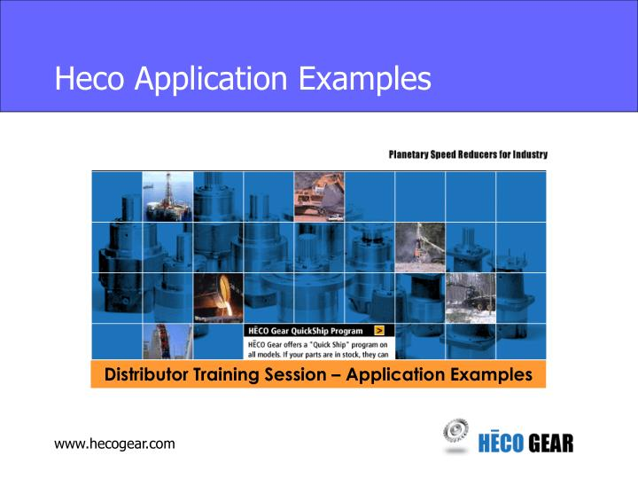 heco application examples n.