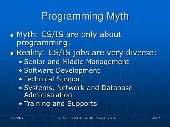 Programming Myth