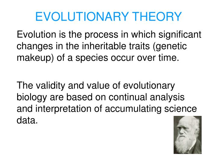 an analysis of evolutionary theory
