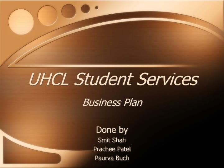 uhcl student services business plan n.