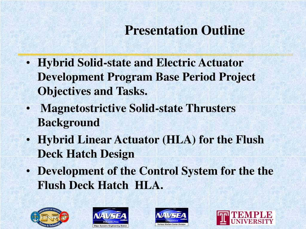 PPT - CONTROL OF THE HYBRID SOLID-STATE AND ELECTRIC LINEAR