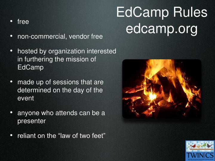 EdCamp Rules