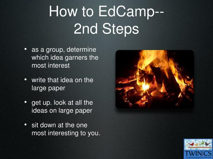 How to EdCamp--