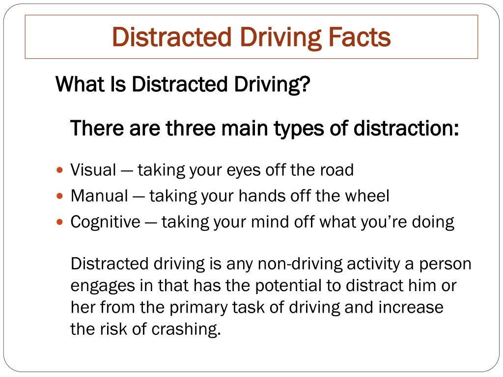 PPT - Distracted Driving Facts PowerPoint Presentation - ID