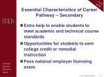 essential characteristics of career pathway secondary1