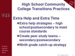 high school community college transitions practices3