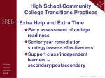 high school community college transitions practices4