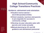 high school community college transitions practices5