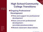 high school community college transitions