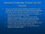 second challenge chosen by the faculty