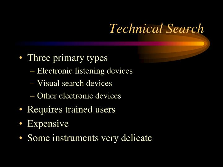 Technical Search