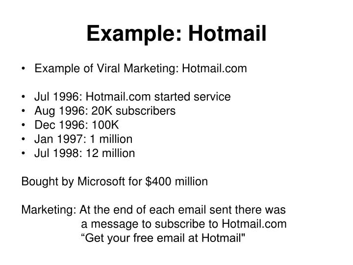 Example: Hotmail