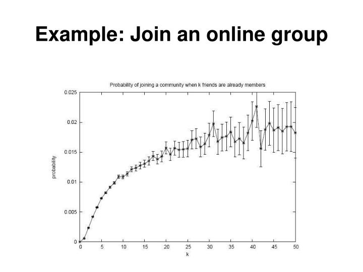 Example: Join an online group