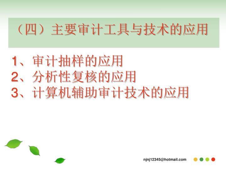 (四)主要审计工具与技术的应用
