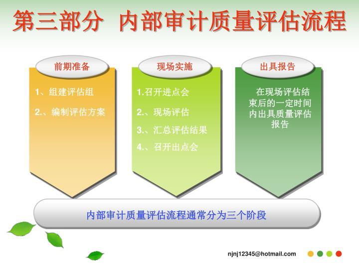 第三部分  内部审计质量评估流程