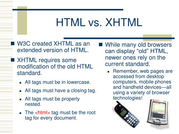 W3C created XHTML as an extended version of HTML.