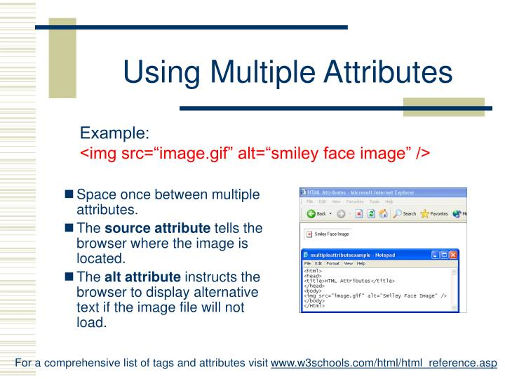 Using Multiple Attributes