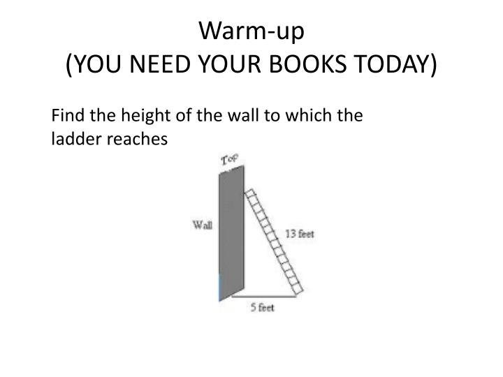warm up you need your books today