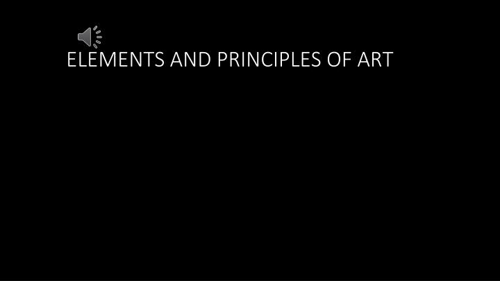 elements and principles of art n.