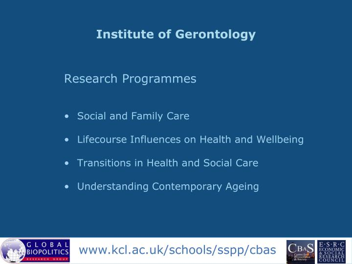 Institute of Gerontology