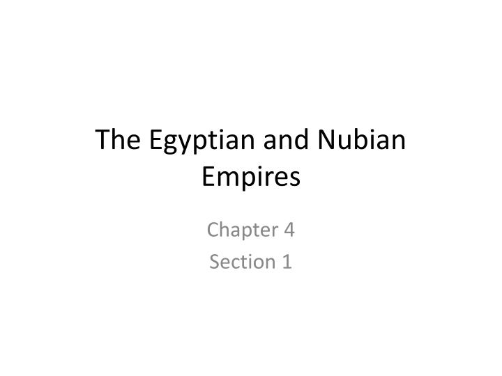 the egyptian and nubian empires n.