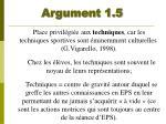 argument 1 5
