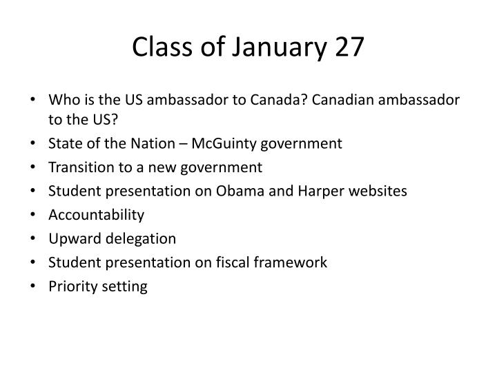 Class of January 27