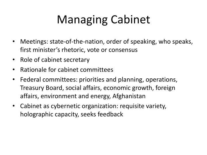 Managing Cabinet