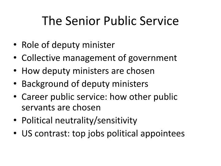 The Senior Public Service