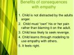 benefits of consequences with empathy