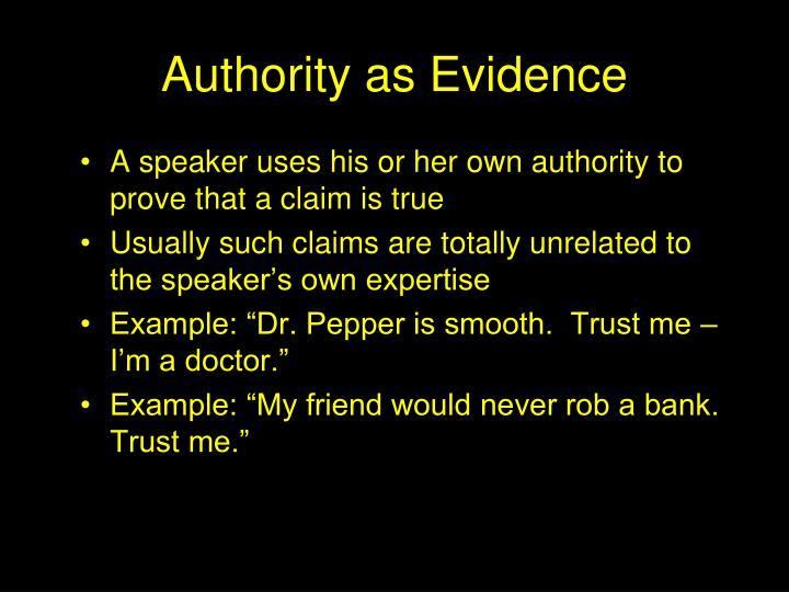 Authority as Evidence