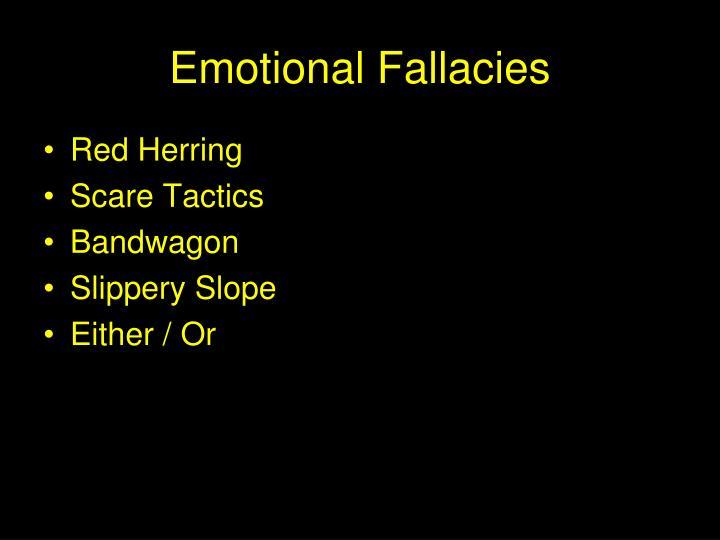 Emotional Fallacies