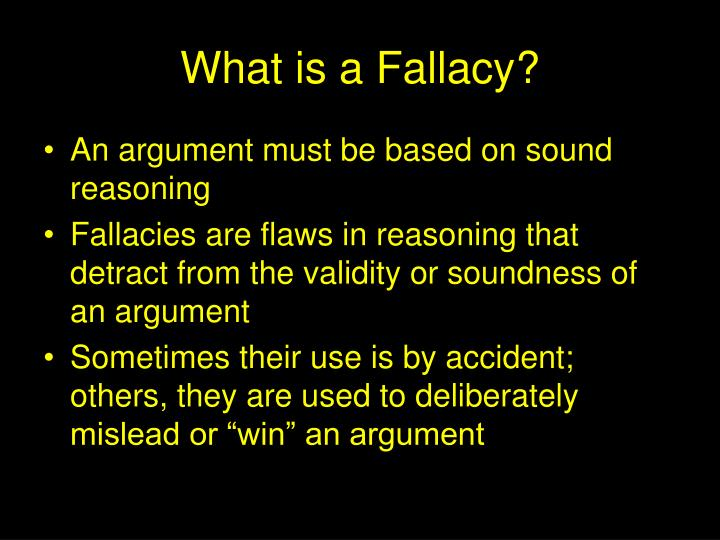 What is a fallacy