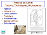 attacks on land tactics techniques procedures