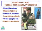 attacks on land tactics techniques procedures1
