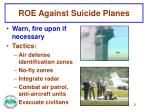 roe against suicide planes