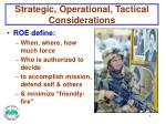 strategic operational tactical considerations1