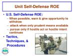unit self defense roe2