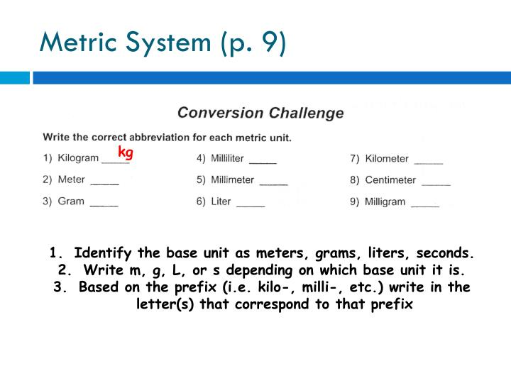 Metric System (p. 9