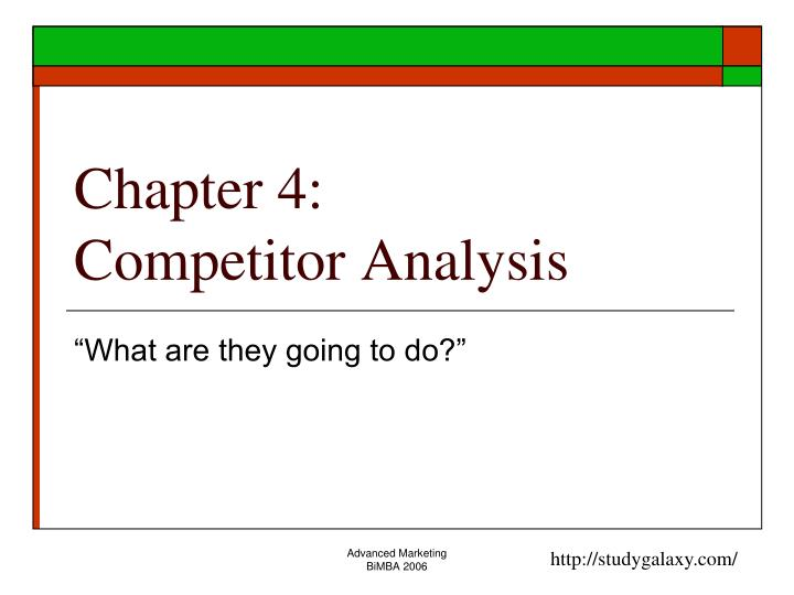 chapter 4 competitor analysis n.