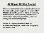 air repair writing prompt