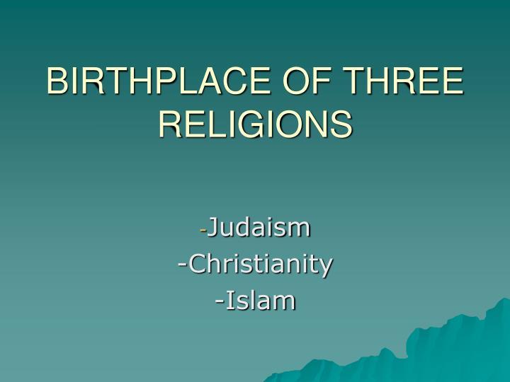 an analysis of the start of islam originating from christianity Comparing christianity and islam to realize that there are many different traditions within islam and many thousands of different traditions within christianity.