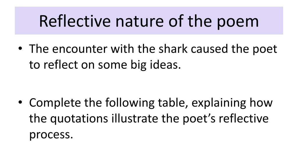 PPT - Basking Shark Annotation of Poem PowerPoint