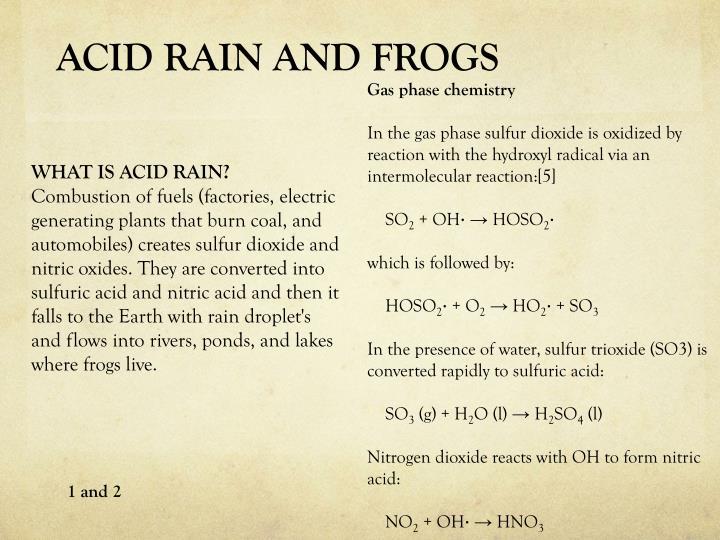 ACID RAIN AND FROGS