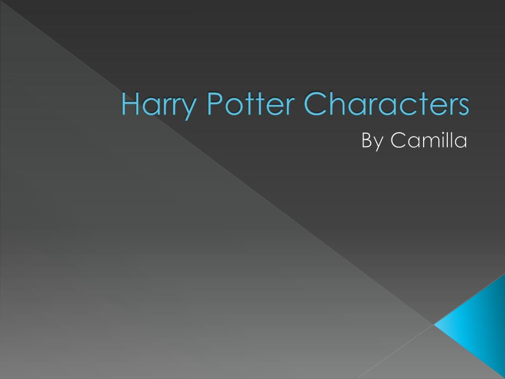 Ppt Harry Potter Characters Powerpoint Presentation Free Download Id 6184672