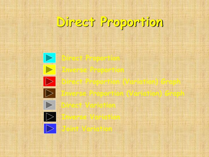 direct proportion n.