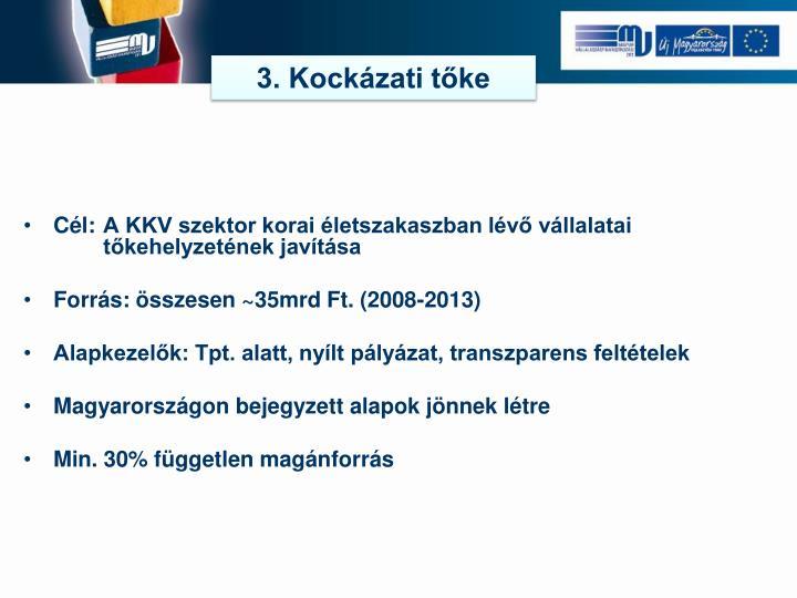 3. Kockázati tőke